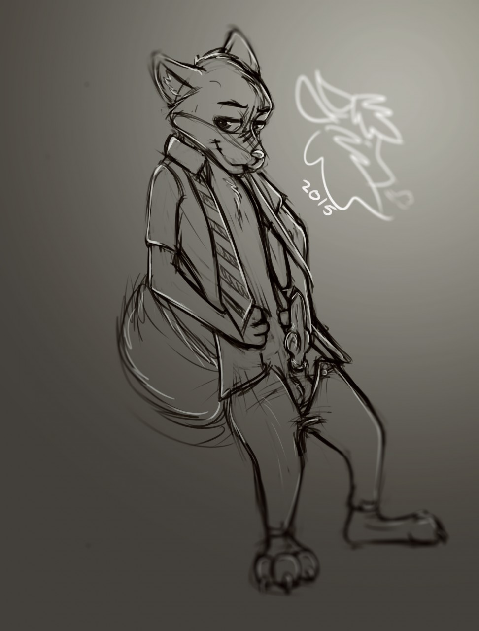 nick male wilde reader x Shadow the hedgehog front view